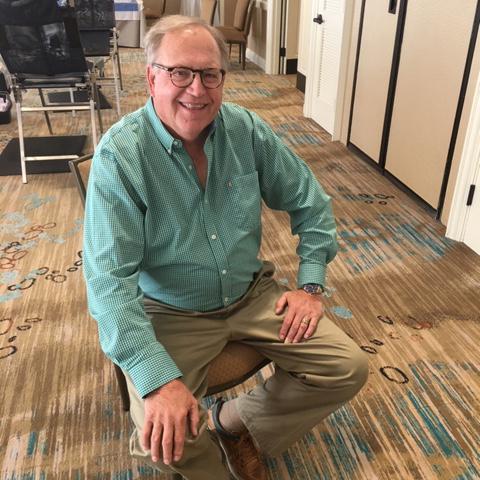 Blood donor Jim Stewart